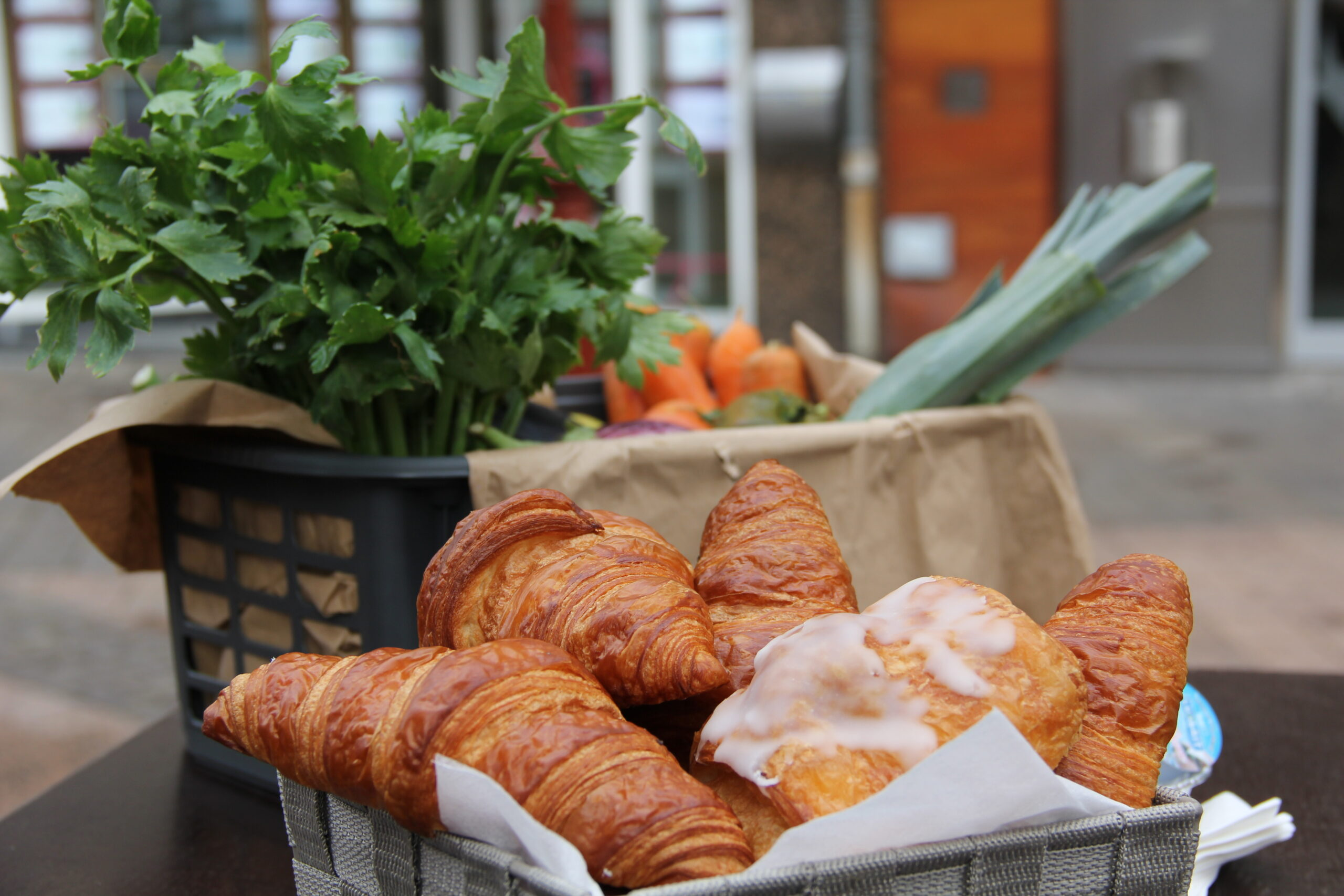 Croissants servis lors de la rentrée des marchés